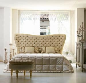 Bramante, Classic bed, headboard quilted, handmade