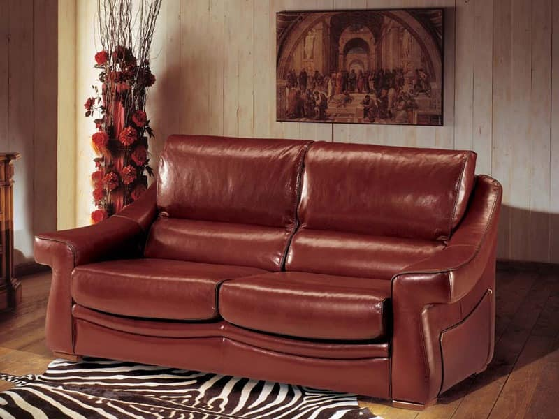 Classic Style Sofa In Colored Lobster Leather IDFdesign