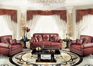 Dec�, Classic luxury sofa for living room, with 3 seats