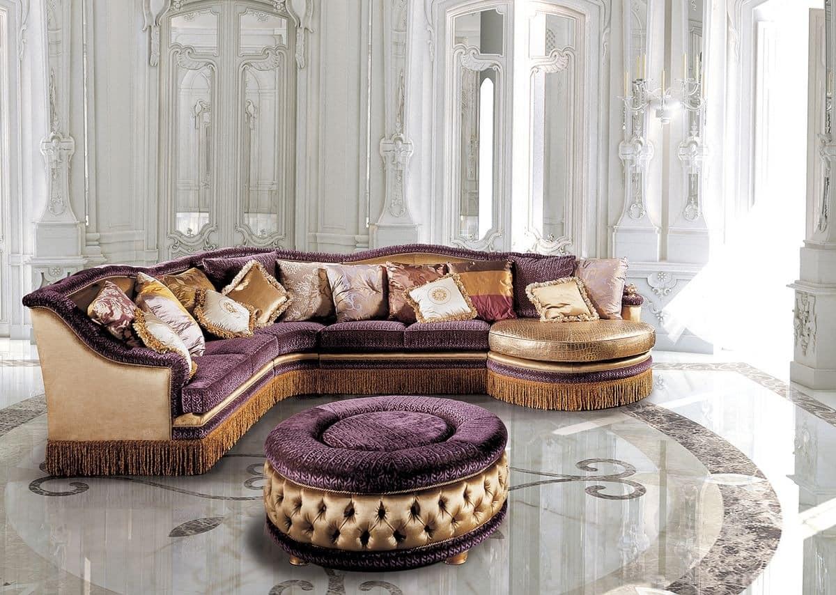 Luxury classic modular sofa for living rooms idfdesign for Arredamenti salotti classici