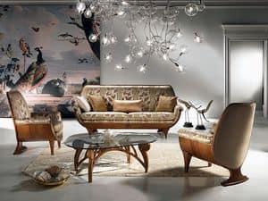 DI01 Confort, Wood sofa, padded, comfortable, classic luxury