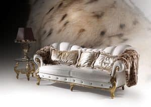 Diamond Cinque, Sofa with gold leaf finishes, luxury classic style