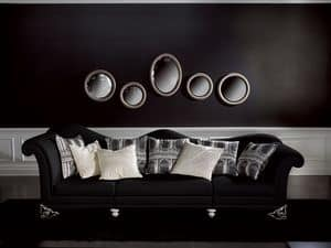 Picture of Divano Doge Nero, buttoned sofas
