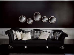 Picture of Divano Doge Nero, buttoned sofas