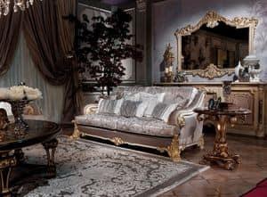 Effy, Precious sofa hand carved, with ergonomic padding
