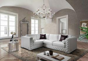 ELITE angular, Corner sofa with tufted padding