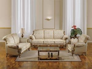 Picture of Estense, stuffed sofa