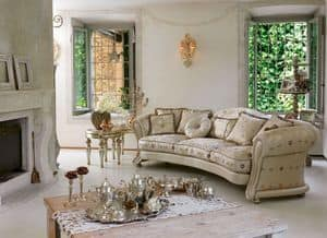 Giselle ring, Luxury classic sofa, sinuous line