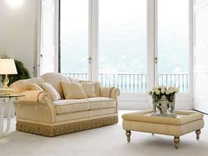 Picture of Glicine, buttoned sofa