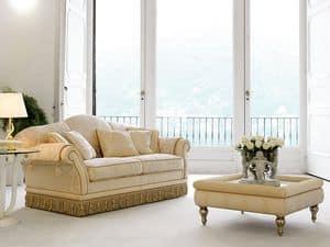 Picture of Glicine, buttoned sofa