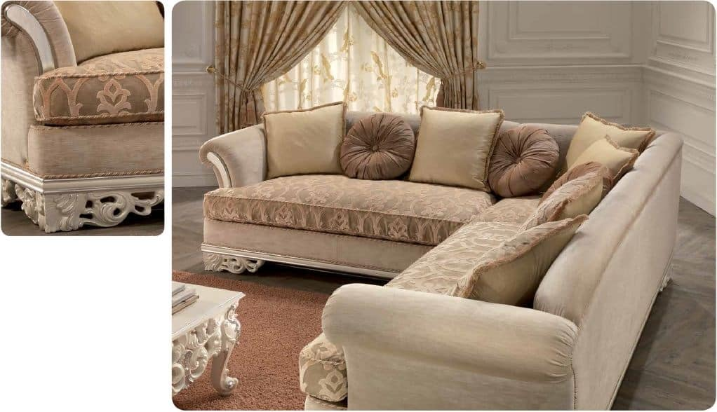 Corner Sofa For Luxury Classic Living Room Carved IDFdesign