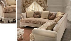 Golf, Corner sofa for luxury classic living room, carved