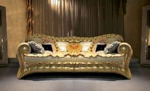 Joker, Upholstered quilted sofa, hand crafted, made in Italy