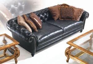 Lauren, Classic leather sofa ideal for villas