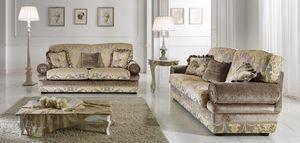 LIENZ, Sofa with important classic fabrics