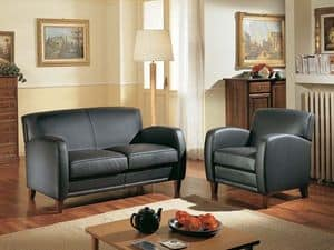 Maxima Sofa, Comfortable two-seater sofa, made with fine materials