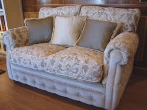 Melody, Classic sofa for living room, comfortable padded