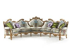 Millionaire Uno B/1803/1/5, Hand carved sofa, for Hotel