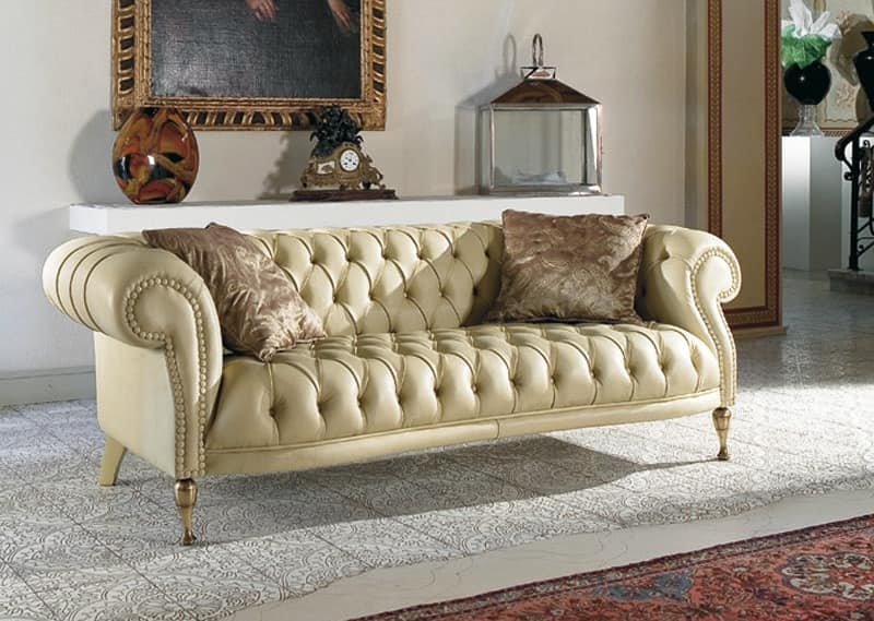 Quilted Classic Sofa For Living Rooms Idfdesign