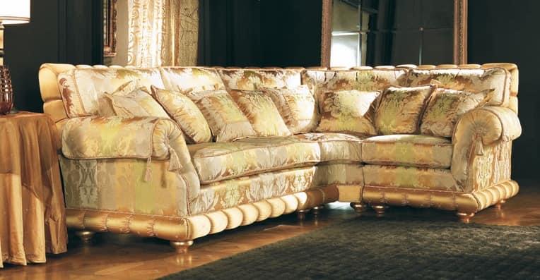 corner modular padded classic sofa idfdesign. Black Bedroom Furniture Sets. Home Design Ideas