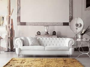 Omero, Classic sofa with stylish quilted padding