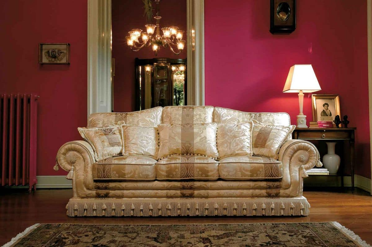Sofa in classic luxury style handmade idfdesign for Luxury furniture sofa