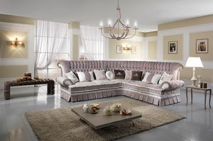 QUEEN angular, Corner quilted sofa, with bed