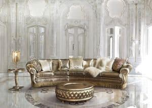 Florida, Sofa with gold trim, for classic stay