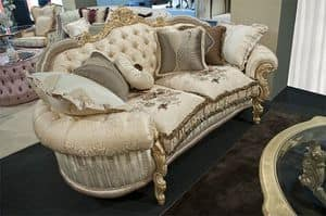 Sinfonia 2-seater sofa, Sofa classic, quilted back, for elegant lounges
