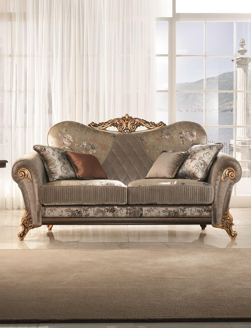 Lovely Sinfonia Divano, Overstuffed Sofa With Soft And Compact Lines