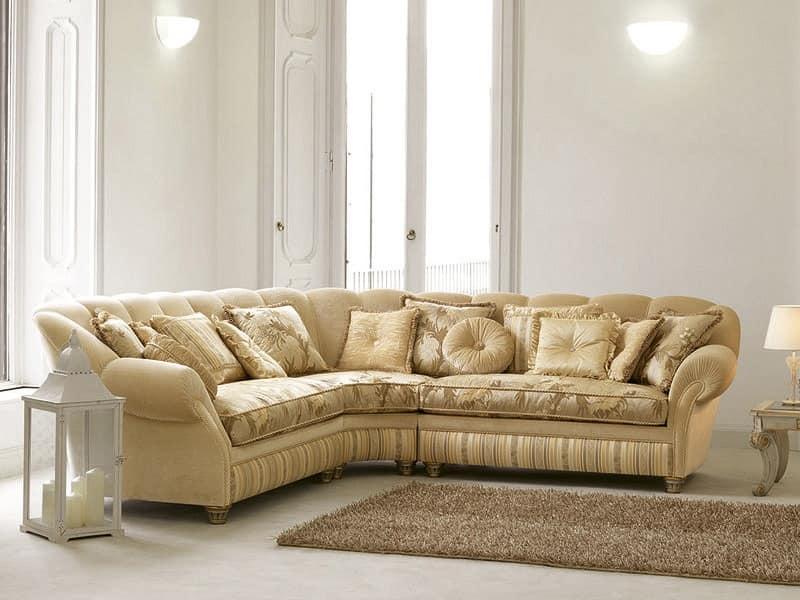 Corner Sofa In Luxury Classic Style Curvy Shape Idfdesign