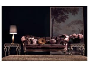 Valeria sofa, Luxury classic sofa, hand-carved, for office