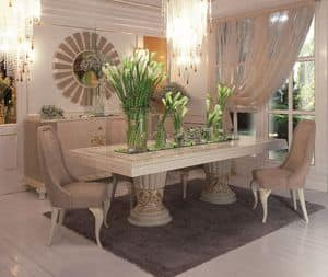 Art. 100, Rectangular table classic luxury dining room