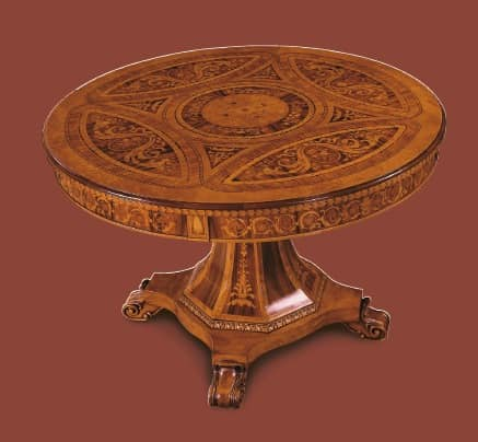 Round table classic design for luxury dining rooms for Luxury round dining table