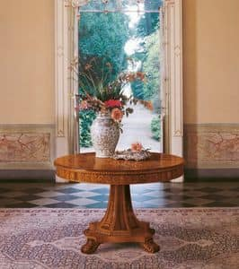 Art. 1107, Round table, classic design, for luxury dining rooms