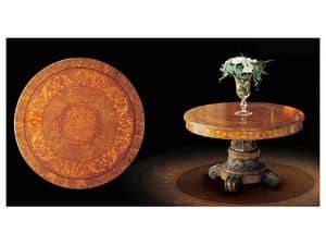 Picture of Art. 1370, classic table in worked wood
