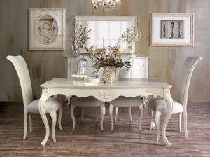 Art. 3066, Classic dining table with craft carvings