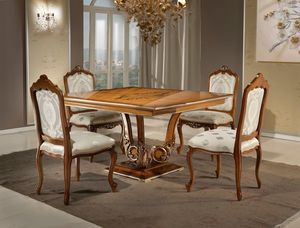 Art. 4010, Square dining table, with classic style