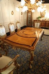 Picture of Art. 816, classic table in worked wood