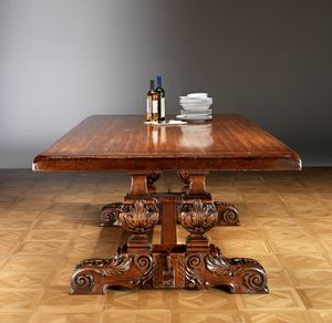 Art. 823 table, Hand-carved dining table