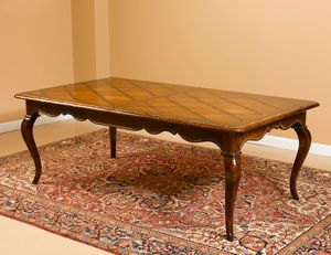 Art. B15 table, Table with inlaid top, extendable