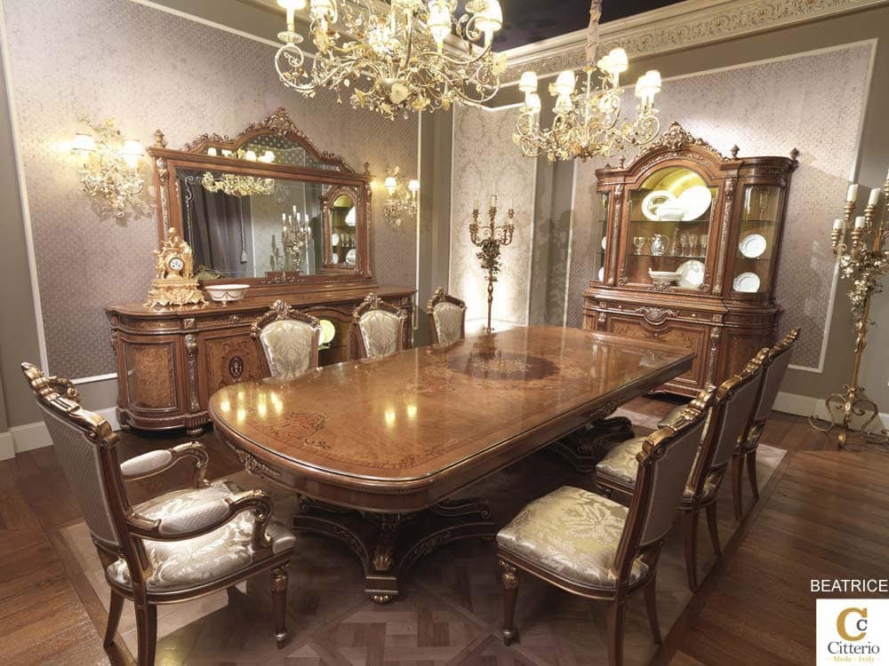Classic luxury dining room solid wood table idfdesign for Classic dining room furniture