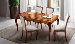 Bourbon Art. 80.067, Rectangular extendable table for luxury classic living rooms