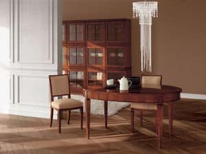 Picture of Classic Cubica Table, classic table in carved wood