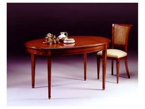 Picture of Classical oval table Romeo, classic table in carved wood