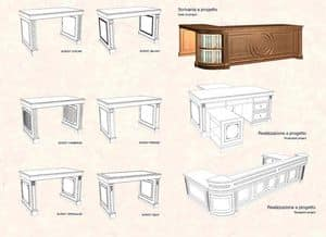 Picture of Desk on Project, finely worked table