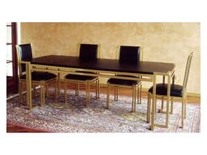 Picture of Essential Table, classic table in carved wood