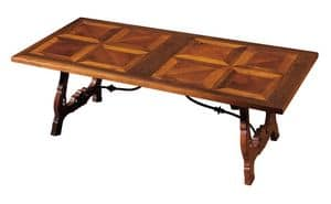 Fiesole ME.0891.2.F, Walnut table with lyre-shaped legs, for living rooms