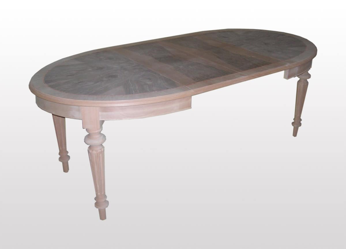 Extendable Table Oval Classic For Dining Room