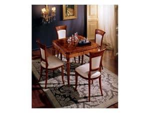 Maggiolini table 799, Luxury classic squared table